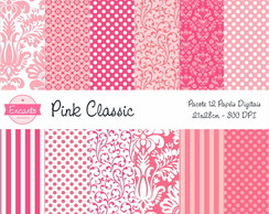 Kit Papel Digital - Pink Classic