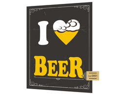 Placa Mdf I Love Beer -951