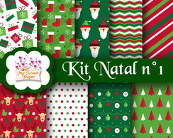 Kit digital Papéis Natal n°1