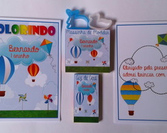 Kit Colorir Com Massinha Balões, Pipas e