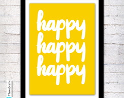 Poster A3- Happy