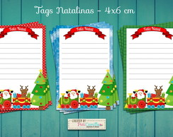 Tags Natalinas - Kit com 3 tags
