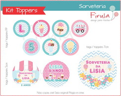 Kit Digital Toppers Sorveteria