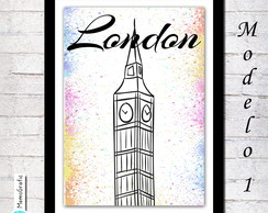 Poster A3- Londres - Branco