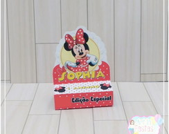 Porta Chocolate Duplo Minnie Vermelha