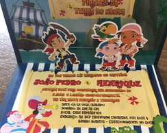 Convite Jake e os Piratas pop up 3D