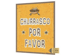 Placa MDF Churrasco Por Favor - 838