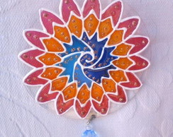 Mini mandala Onda azul MP-61