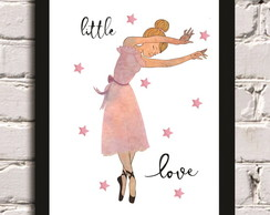 Poster com moldura Little Love Ballet