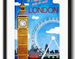 Quadro Londres Big Ben com Paspatur