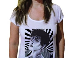 Camiseta Feminina Rihanna Art Fashion