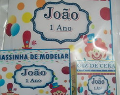 kit para colorir com massinha Circo