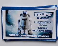 Convite Star Wars | SEM ENVELOPE