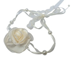 Headband Rosa Colombiana Off White