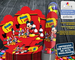 Rotulo Tubete - Casa do Mickey (mod 2)