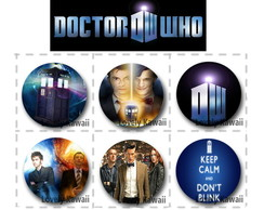 Bottons Doctor Who (com 6)