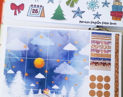 Adesivo Planner Stickers Natal -