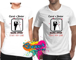 2 Camisas Game Over x Start Game Noivos