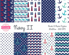 Kit Papel Digital - Navy II