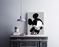 "Placa decorativa ""Mickey Kiss"""