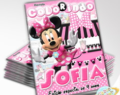 Revista de Colorir Minnie rosa
