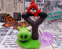 Vela decorada Angry Birds Estilingue