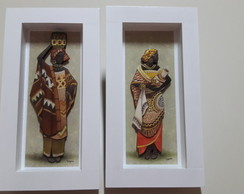Quadro arte francesa as africanas