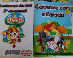 Revista p/ colorir + giz - Sítio do pica