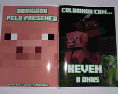 Mini Revistinha de Colorir Minecraft