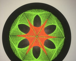 Mandala String Art Fluorescente
