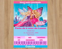 Convite Digital Barbie Butterfly