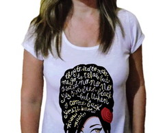Camiseta Feminina Amy winehouse 7