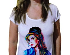 Camiseta Feminina Amy winehouse 8