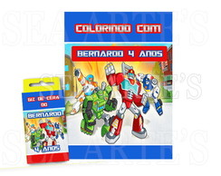 Kit Colorir - Transformers Rescue Bots