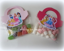 Saquinho mini marshmalow princesas