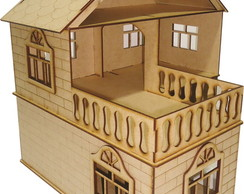 Casa Casinha BONECAS MDF POLLY JULY cru
