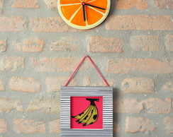 Quadro decorativo banana