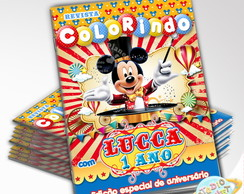 Revista de colorir Circo do Mickey
