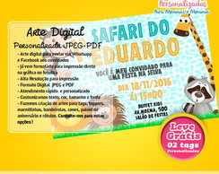 Convite Virtual/Digital Safari