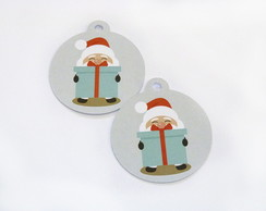 Kit Tags Redondas Papai Noel - TA01A
