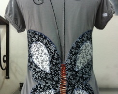 Camiseta bordada butterfly
