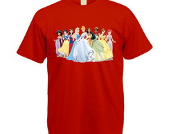 Camiseta Colorida Princesas Disney