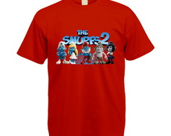 Camiseta Colorida Os Smurfs