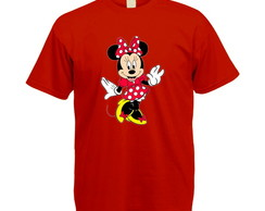 Camiseta Colorida Minnie Vermelha