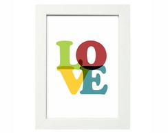 Quadro Pronto A4 Love Colors Qp013