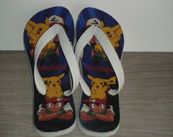 Chinelo Personalizado Pokemon.
