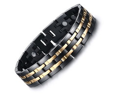 Pulseira Magnetic Black ouro