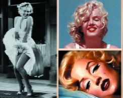 Quadro 65x20 Marilyn Monroe 8 fotos mix