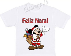 Camiseta do Mickey Camiseta de Natal