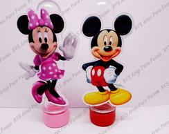 Aplique para tubete - Mickey and Minnie